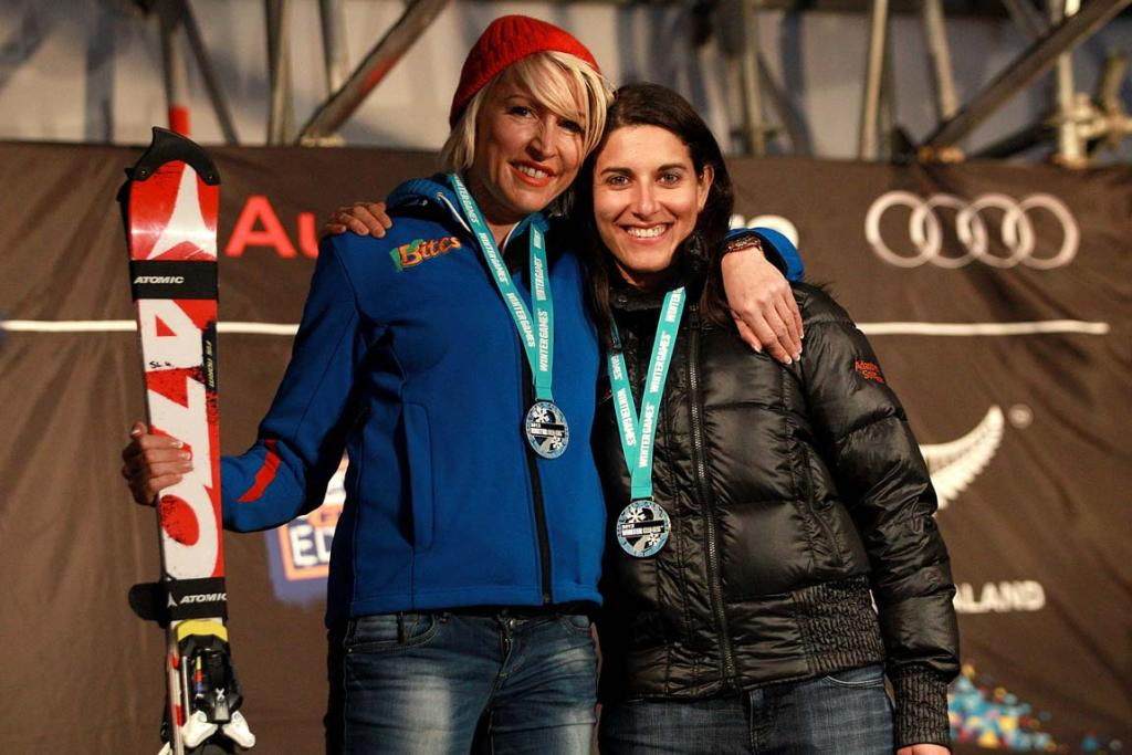 Winners on the day, Heather Mills of Great Britain and Melanie Schwartz of the USA.