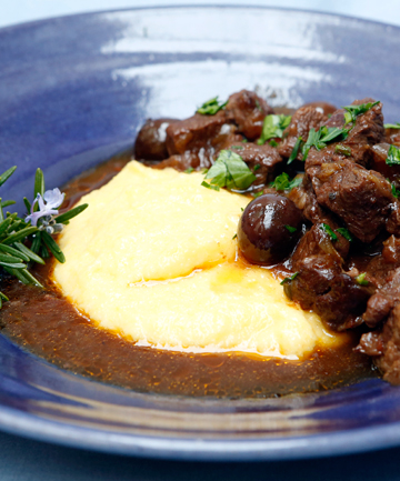 PLATED UP: Italian braised beef, served with polenta.