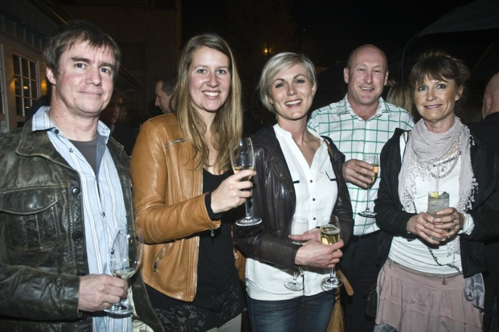 Guests at the Harlequin Public House opening.