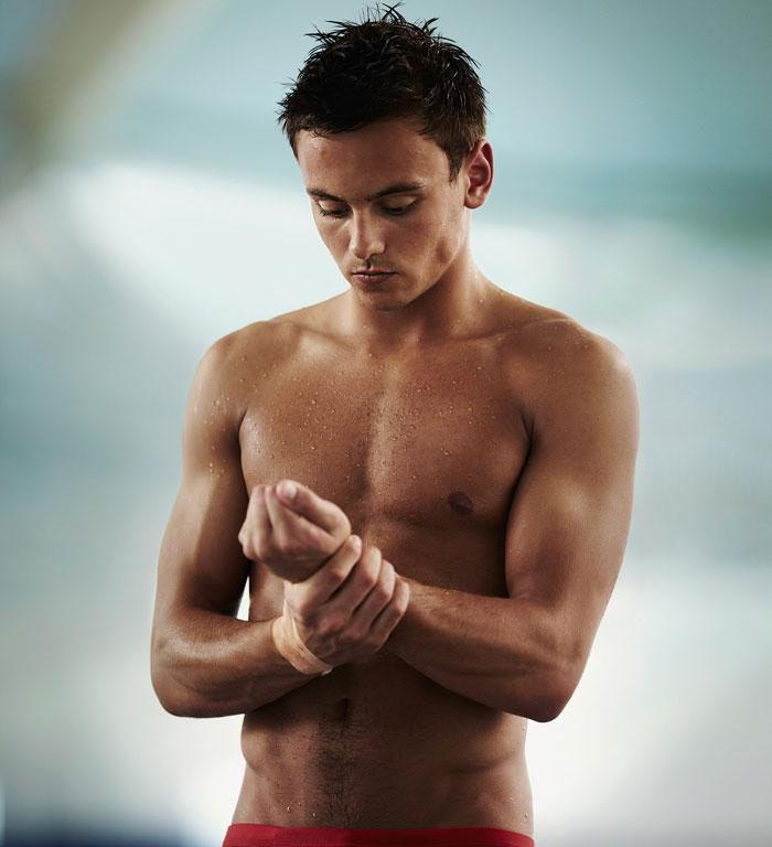 No 5: Team GB diver Tom Daley took the 5th spot on the list with 30 per cent of the votes.