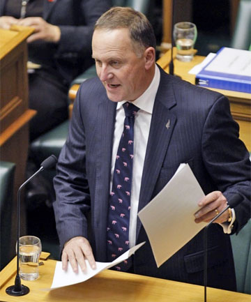 JOHN KEY: Asked if they fully believed what Key said, 58.6 per cent said no and just 23.5 per cent yes.