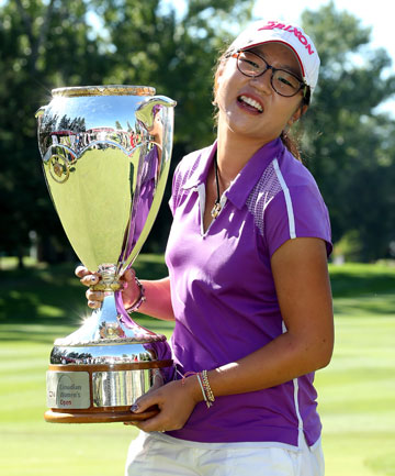 BACK-TO-BACK: Lydia Ko with the Canadian Open trophy.