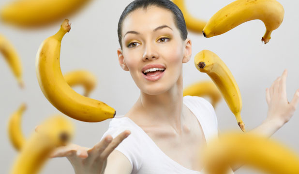 GO BANANAS: While we don't recommend stepping into a zero-gravity environment with a bunch of bananas, do try applying some of the vitamin-rich fruit to dry skin.