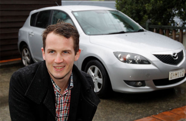 ON THE JOB: William Findlay, of Thorndon, imported a Mazda 3.