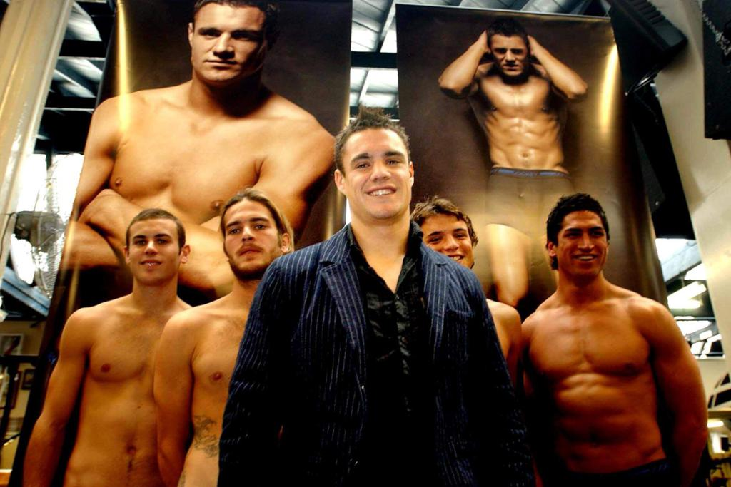 2005: Dan Carter makes a fully-clothed appearance at an Auckland Les Mills gym to promote