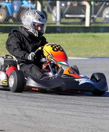 KART FUN: Southland's Hamish Keast in action in the Junior Yamaha Race.