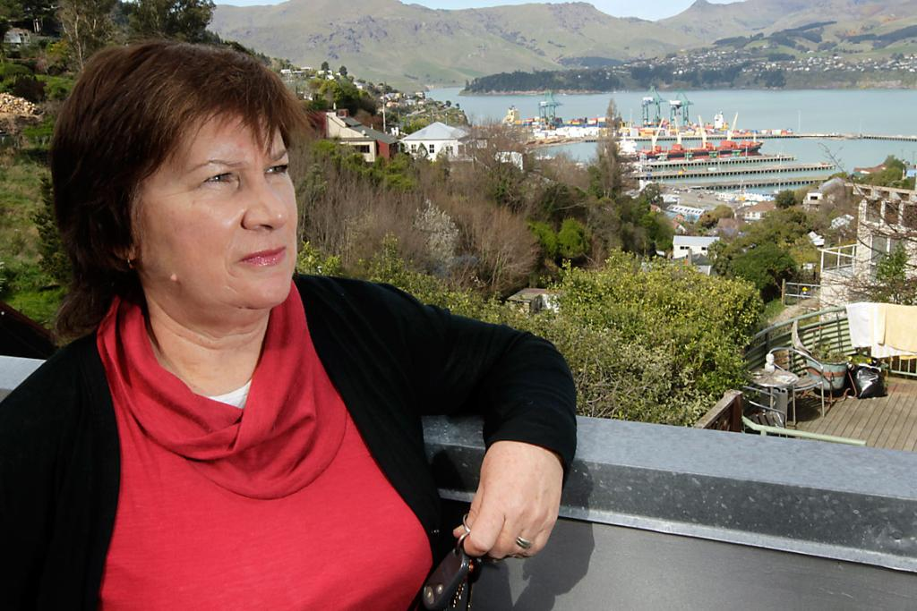 BITTER: Heather McKenzie says if she could leave Christchurch, she would.