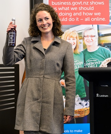 PASSIONATE: Chloe Van Dyke of Nelson drinks company has been named Supreme Winner in business plan competition.