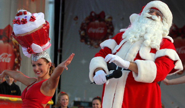 Santa always headlines Christmas in the Park.