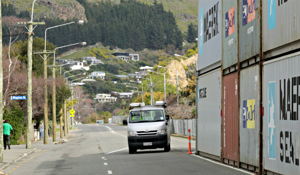 IMPROVED ACCESS: The number of shipping containers protecting the cliffs around Sumner and Redcliffs has been halved.