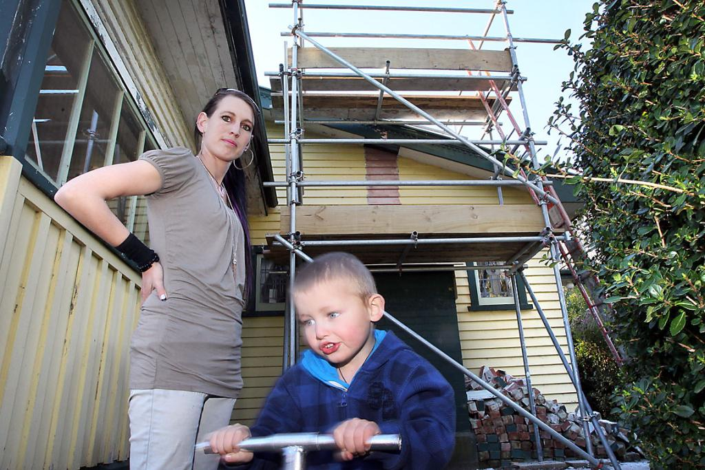 DISILLUSIONED: Jaimee Newton suffered minimal damage in the quakes but has been left feeling disheartened with what is happening in her city.