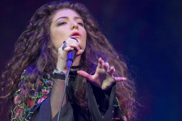 Lorde performs live at Auckland's Vector Arena where she held a free concert.