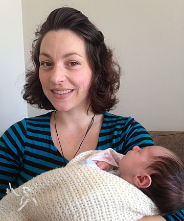 HELPING HAND:  Mummies For Life support network chief executive and founder Zelda Edwards with her 1-week-old daughter, Ripley Kowhai Smith, wants to send a care package to the Milton family, of Invercargill.