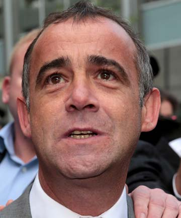 RELIEF: Michael Le Vell outside court.