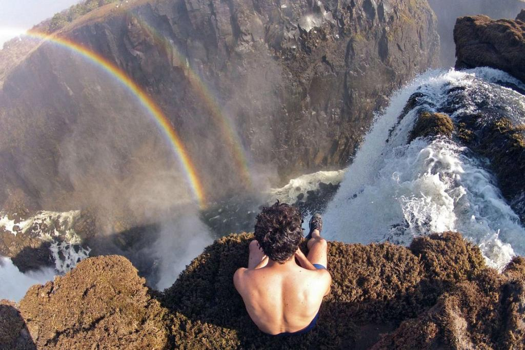 The wild side of Victoria Falls, on the border between Zambia and Zimbabwe.'