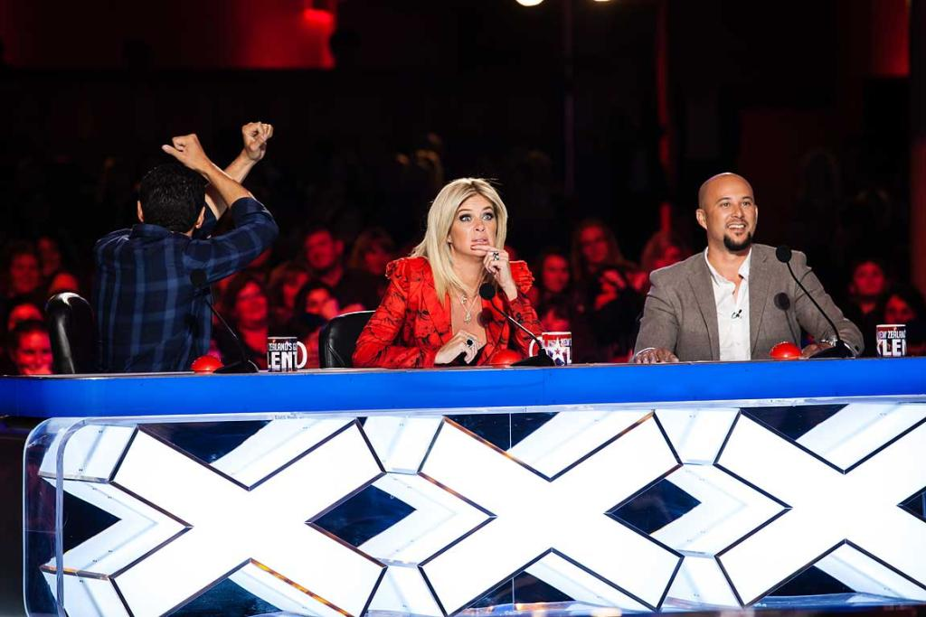 The judging table: Jason Kerrison, Rachel Hunter and Cris Judd.