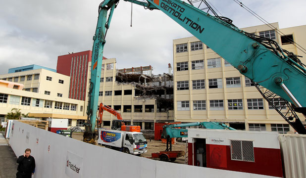 Wards one to five at Taranaki Base Hospital are coming down.