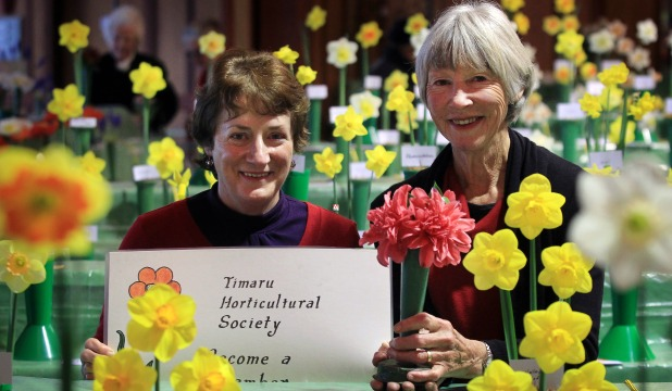 Timaru Horticultural Society president Maureen Ng, left, with secretary Jenni Young