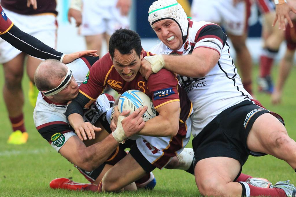 Times' photographer John Hawkins captures the clash between the Southland Stags and North Harbour.