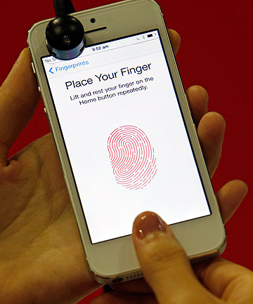iPhone 5S Touch ID fingerprint recognition