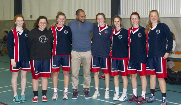 Southland Girls' High School's senior A basketball team