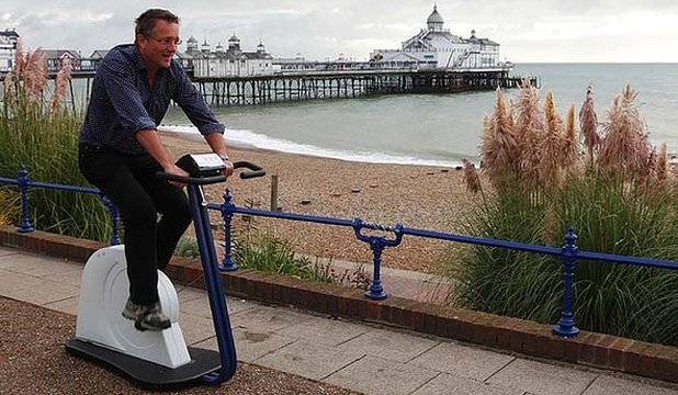 NO NEED: Michael Mosley discovers the benefits of the fast fix claiming there is no need to slog it out at the gym.