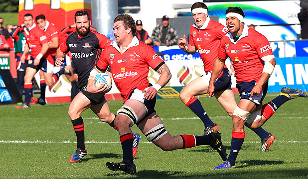 IN FULL FLIGHT: Liam Squire in action against Canterbury in the ITM Cup.