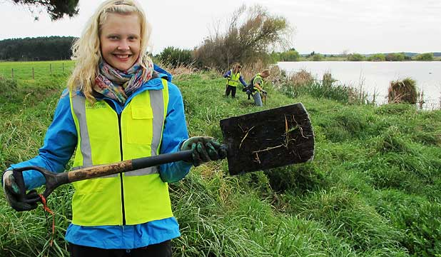 Vanessa Ullbrich is working to keep New Zealand's landscape looking good.