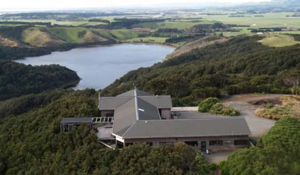 LAND OF PLENTY: An aerial view of Hollywood director James Cameron's property in the Wairarapa.