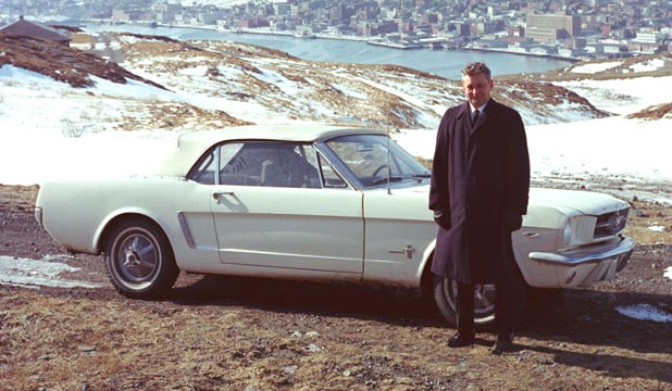 The First Captain Stanley Tucker Of St Johns Newfoundland With His 1965 Ford