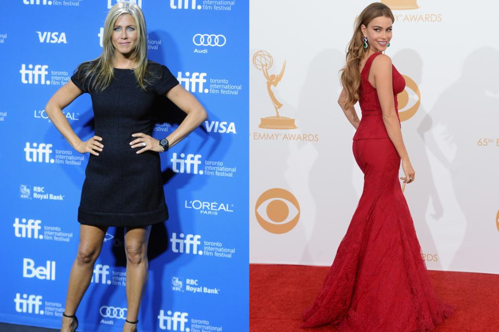 BEST BODIES: Jennifer Aniston's arms and legs, and Sofia Vergara's curves and hair were found to be the best in Hollywood.
