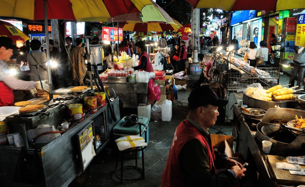 This pic was taken while wondering through the busy, colourful and chaotic night market in Pusan in South Korea.