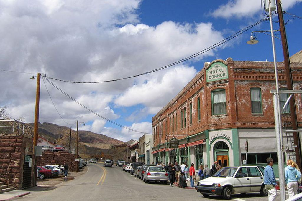 Jerome, Arizona: When the mines closed in the mid-1950s, the population plummeted to only 42 residents, and it became well-known for its paranormal activity such as items inexplicably moving on their own and glasses sliding off tables on their own.
