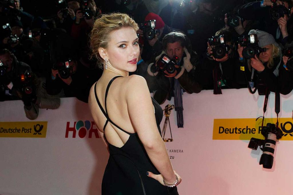Scarlett Johansson is working the red carpet at an awards show in Germany.