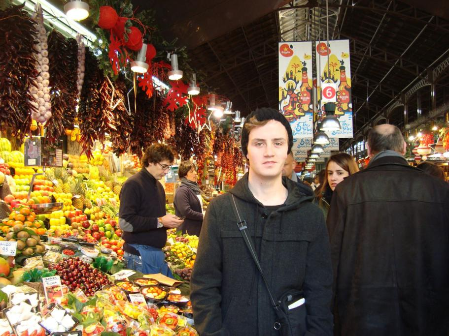 Fresh fruit and juice, locally caught fish and chocolate pastries at La Boqueria markets in Barcelona, Spain, made a nice change for Thomas Weston from the fast food he'd been eating at airports and train stations.