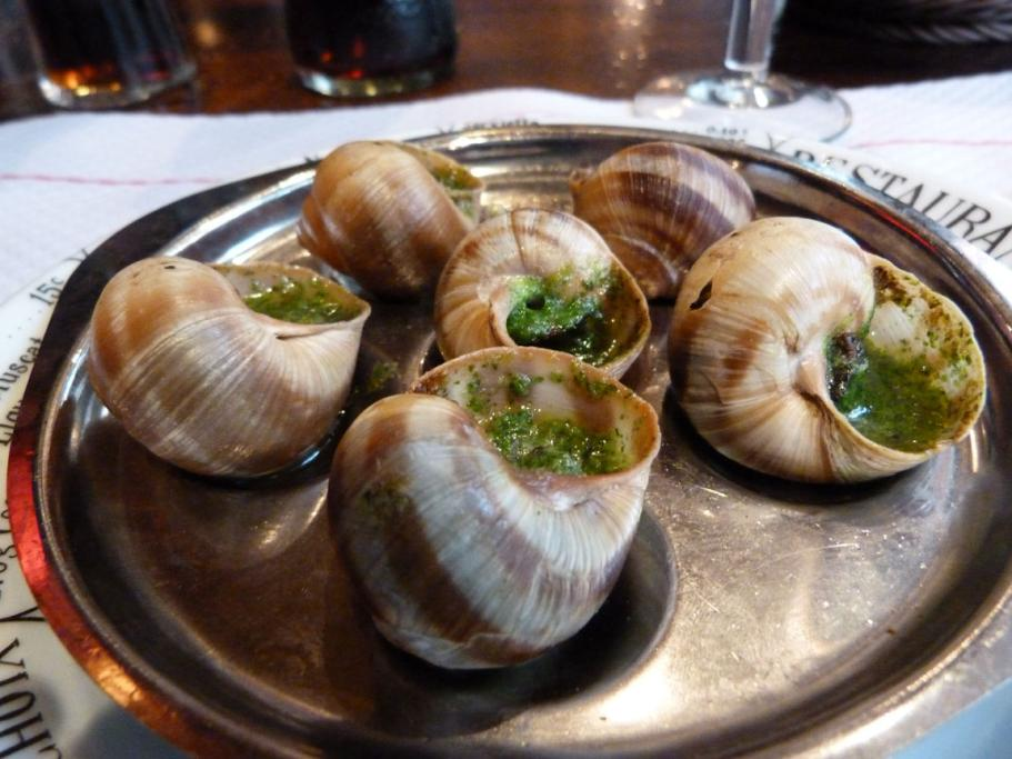 Food for a lost wanderer in Paris, Sonia Edney stopped at a restaurant to eat snails for dinner as she figured out how to get back to her hotel.