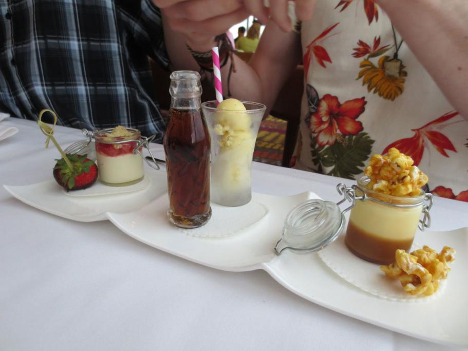 Disney World in Florida is not just for the kids with the California Grill offering up strawberry cheesecake, coke float and popcorn treat to tantalise the tastebuds of an all ages crowd.