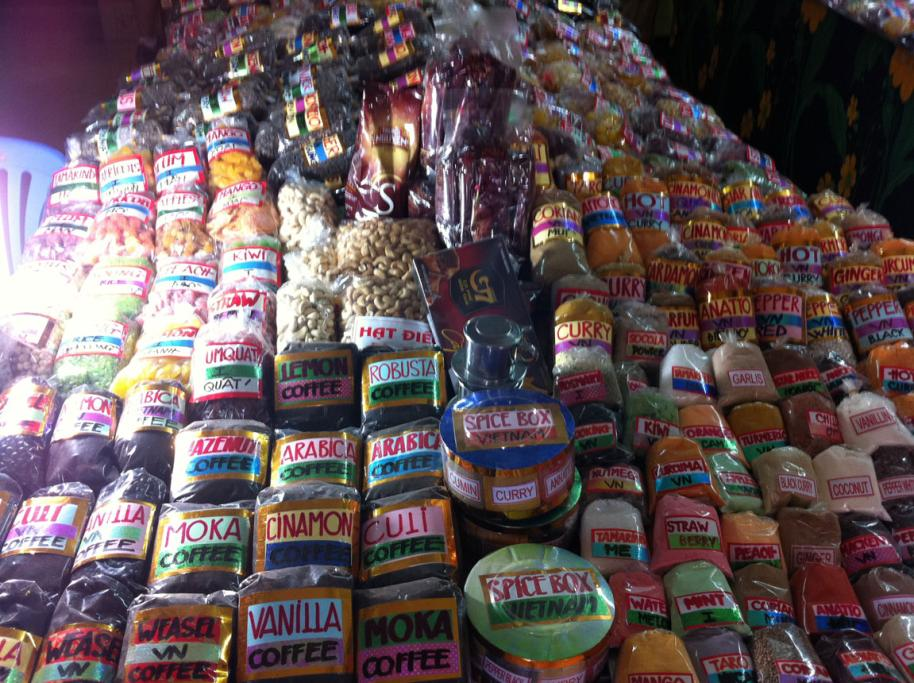 A flavoursome snippet of a spice store in the Old Quarter of Hanoi.