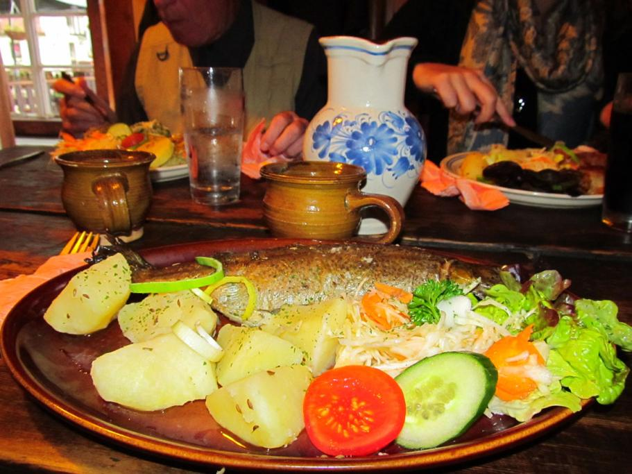 She'd never eaten trout in New Zealand, but when it was served up in the Czech Republic town of Czesky Krumlov, Patricia Reesby was hooked.