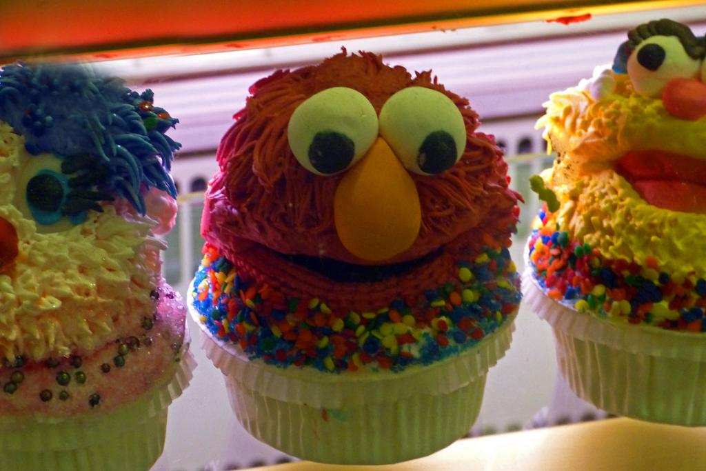 Cheeky cupcakes in New York's Chelsea markets.