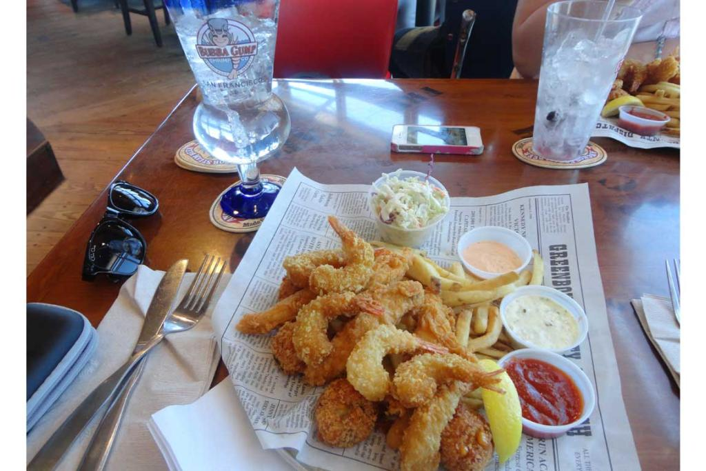 Forrest's Seafood Feast at Bubba Gump restaurant in San Francisco.