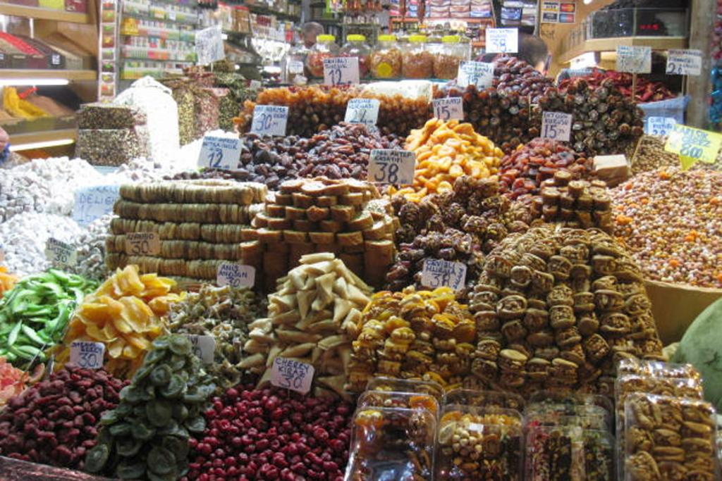 Figs, dates, cherries, nuts, spices, nougat and a whole lot more at the fabulous Spice Market in Istanbul.
