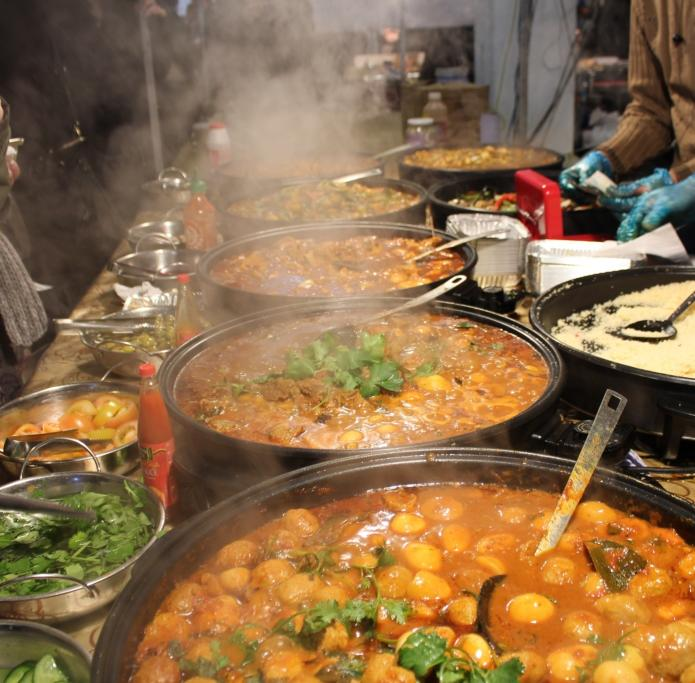 Walking through the London markets on a Sunday. Always a tough decision what delicious meal to choose for lunch.