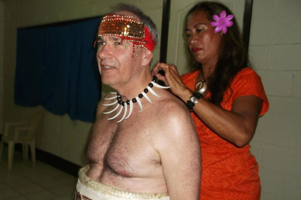 Len Brown at a Samoan ceremony where the title of Taua'aletoa - Taua'a the warrior - was bestowed on him.
