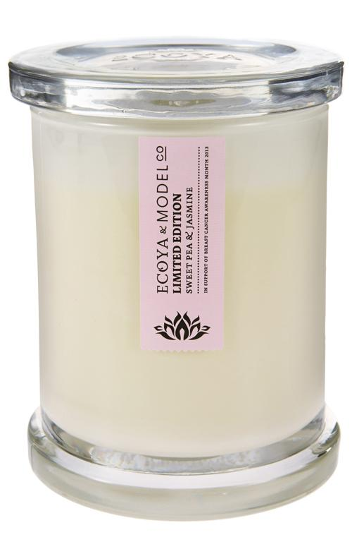 Ecoya & ModelCo Limited Edition Metro Jar, $29.95: Treat yourself to this special soy wax candle scented with sweet peas and jasmine and 100 per cent of your money goes as a donation to the Breast Cancer Foundation.