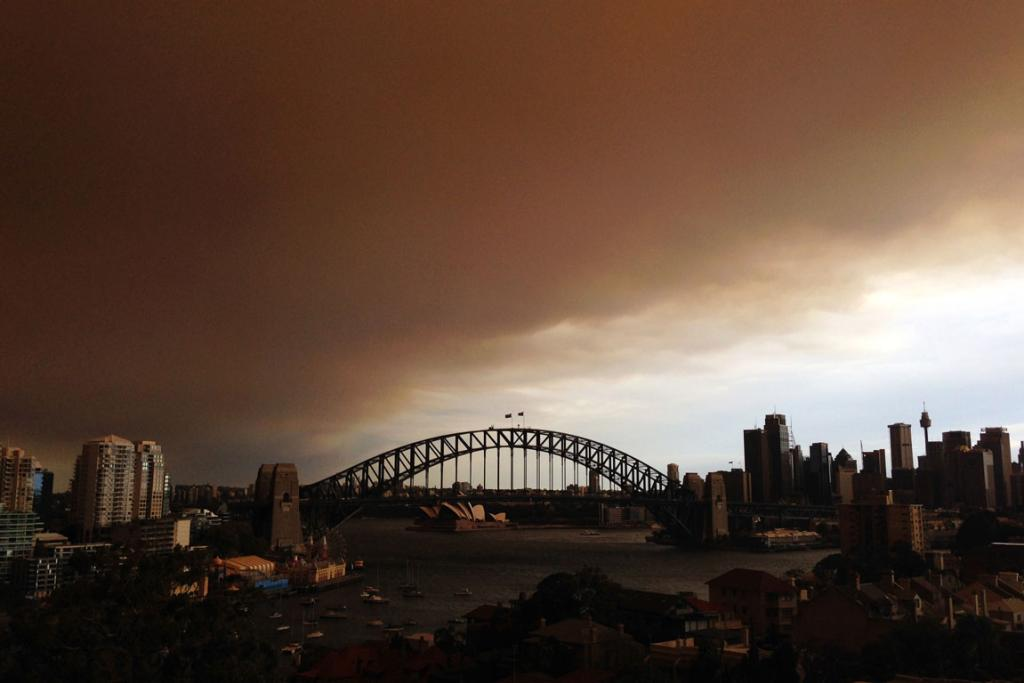 The sky above Sydney was filled with smoke.