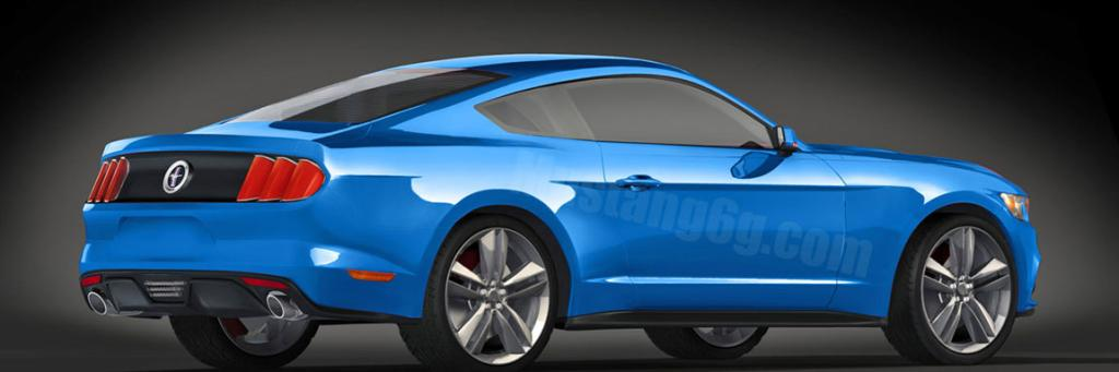 An artist's impression of the new Ford Mustang.