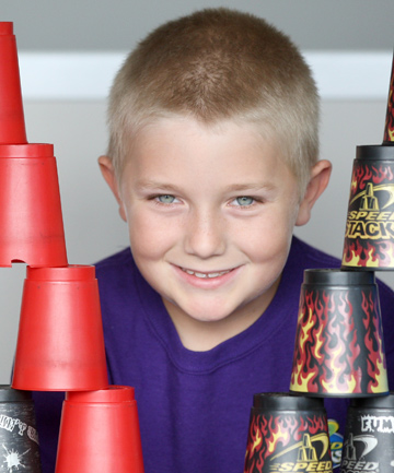 STACK STAR: Nathan Johnson has been chosen to represent New Zealand in sport stacking.
