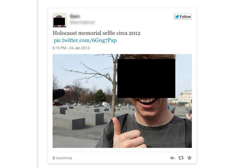 1. Do not selfie at memorials and grave sites.