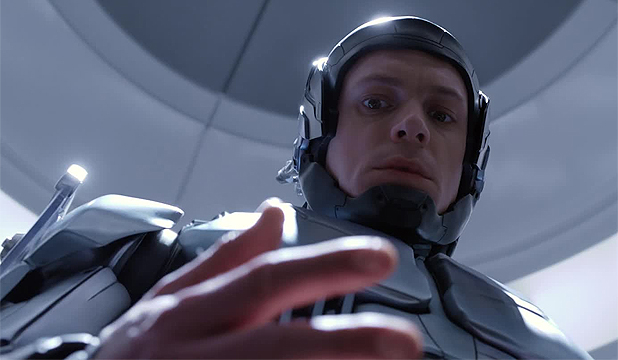 HALF MAN, HALF MACHINE: Joel Kinnaman stars as the titular character in the 2014 remake of the seminal cyborg classic, Robocop.